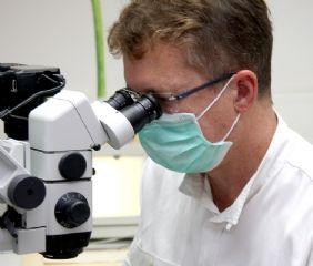 Spezialmikroskop, Laser und Sandstrahl für die Wurzelbehandlung